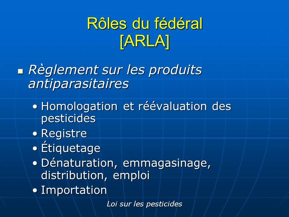 Rôles du fédéral [ARLA]